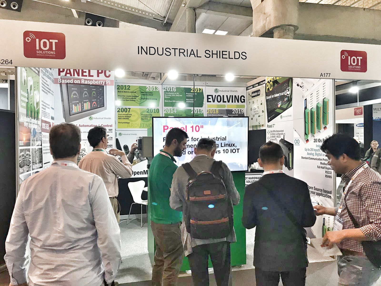 Industrial Shields's stand at IOTSWC2019