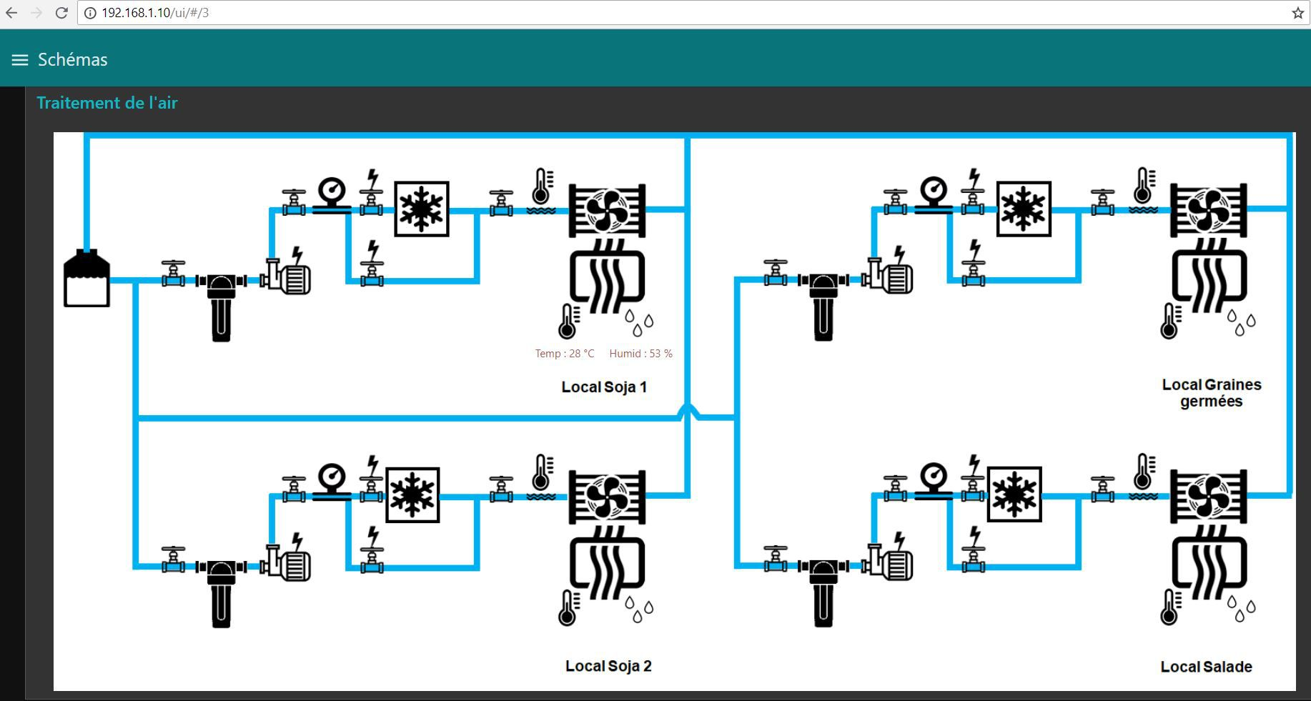 Air Treatment diagram with Arduino PLC